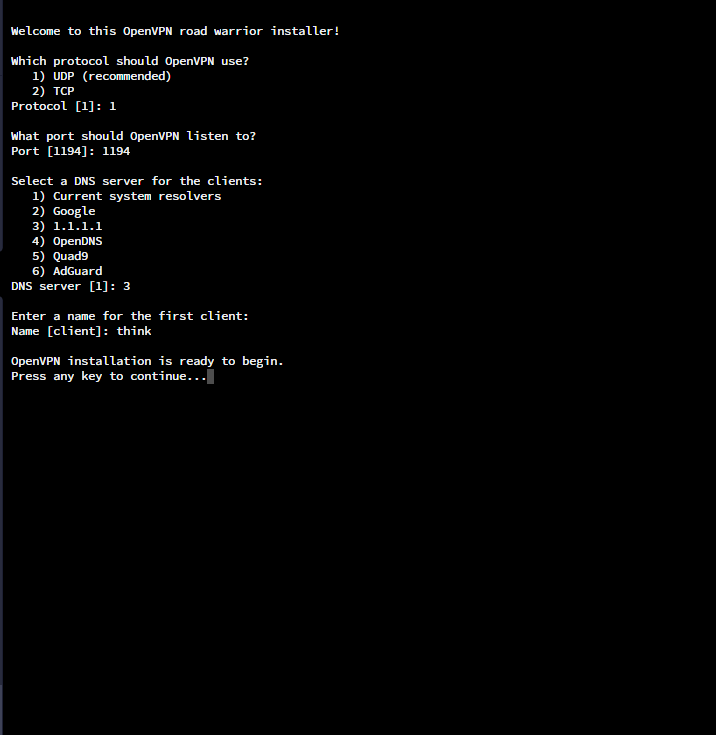 OpenVPN Ubuntu